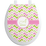 Pink & Green Geometric Toilet Seat Decal (Personalized)