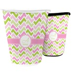 Pink & Green Geometric Waste Basket (Personalized)