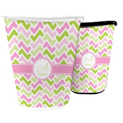 Pink & Green Geometric Waste Basket (Personalized)