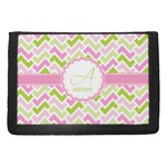 Pink & Green Geometric Trifold Wallet (Personalized)
