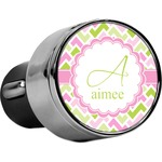 Pink & Green Geometric USB Car Charger (Personalized)