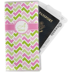 Pink & Green Geometric Travel Document Holder