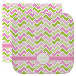 Pink & Green Geometric Facecloth / Wash Cloth (Personalized)