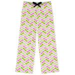 Pink & Green Geometric Womens Pajama Pants (Personalized)