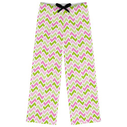 Pink & Green Geometric Womens Pajama Pants (Personalized)