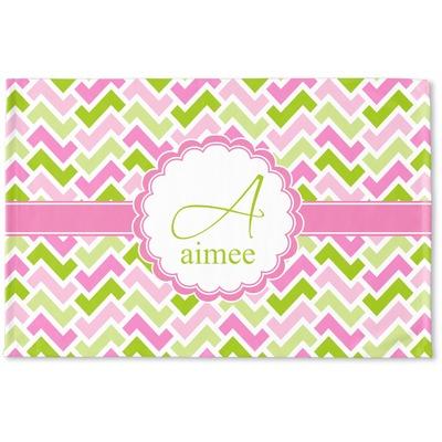 Pink & Green Geometric Woven Mat (Personalized)