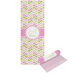 Pink & Green Geometric Yoga Mat - Printable Front and Back (Personalized)