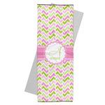 Pink & Green Geometric Yoga Mat Towel (Personalized)