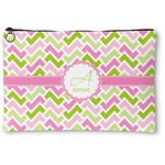 Pink & Green Geometric Zipper Pouch (Personalized)