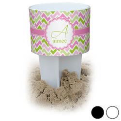 Pink & Green Geometric Beach Spiker Drink Holder (Personalized)