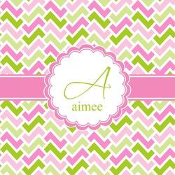 Pink & Green Geometric