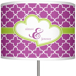 """Clover 13"""" Drum Lamp Shade Polyester (Personalized)"""