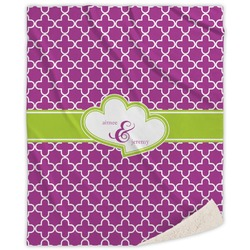 Clover Sherpa Throw Blanket (Personalized)