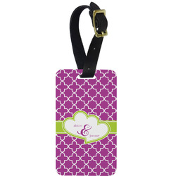 Clover Metal Luggage Tag w/ Couple's Names