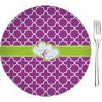 """Clover Glass Appetizer / Dessert Plates 8"""" - Single or Set (Personalized)"""