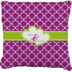 Clover Faux-Linen Throw Pillow (Personalized)