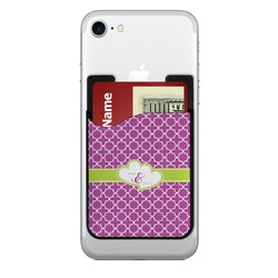 Clover 2-in-1 Cell Phone Credit Card Holder & Screen Cleaner (Personalized)