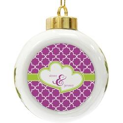 Clover Ceramic Ball Ornament (Personalized)