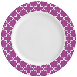 Clover Ceramic Dinner Plates (Set of 4) (Personalized)