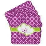 Clover Cork Coaster - Set of 4 w/ Couple's Names