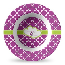 Clover Plastic Bowl - Microwave Safe - Composite Polymer (Personalized)