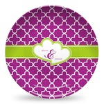 Clover Microwave Safe Plastic Plate - Composite Polymer (Personalized)