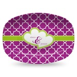 Clover Plastic Platter - Microwave & Oven Safe Composite Polymer (Personalized)