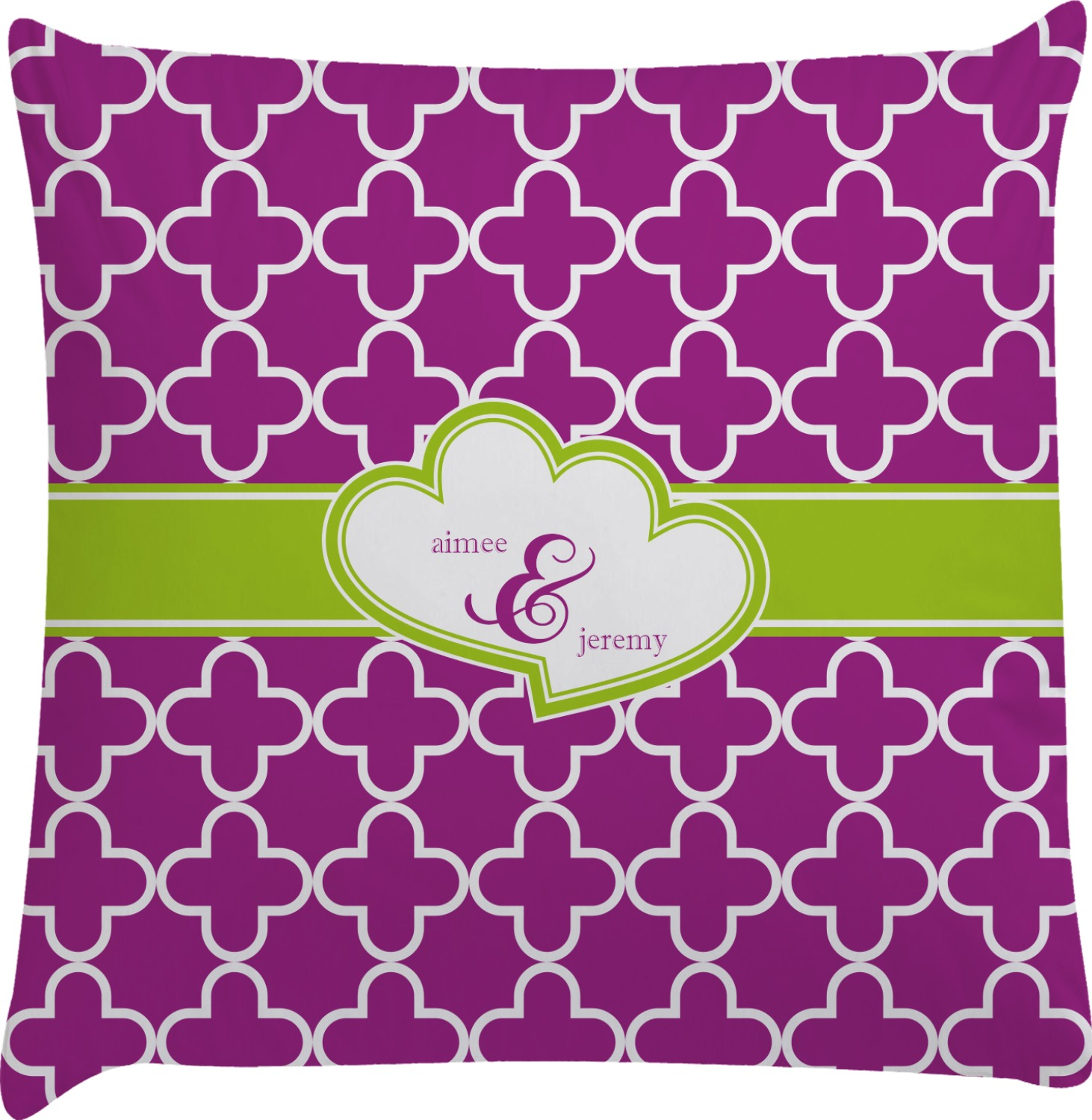 Clover Decorative Pillow Case (Personalized) - RNK Shops