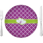 "Clover Glass Lunch / Dinner Plates 10"" - Single or Set (Personalized)"