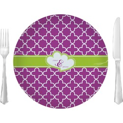 """Clover 10"""" Glass Lunch / Dinner Plates - Single or Set (Personalized)"""