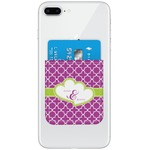 Clover Genuine Leather Adhesive Phone Wallet (Personalized)