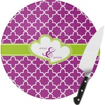 Clover Round Glass Cutting Board (Personalized)
