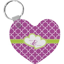 Clover Heart Keychain (Personalized)