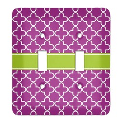Clover Light Switch Cover (2 Toggle Plate) (Personalized)