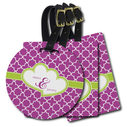 Clover Plastic Luggage Tags (Personalized)