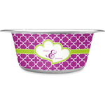 Clover Stainless Steel Dog Bowl (Personalized)