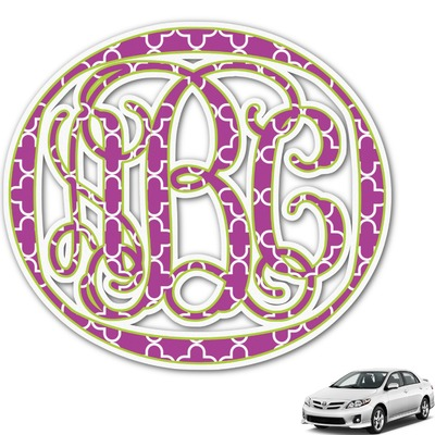 Clover Monogram Car Decal (Personalized)
