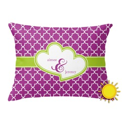 Clover Outdoor Throw Pillow (Rectangular) (Personalized)
