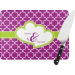 Clover Rectangular Glass Cutting Board (Personalized)