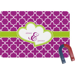 Clover Rectangular Fridge Magnet (Personalized)