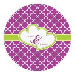 Clover Round Decal - Custom Size (Personalized)
