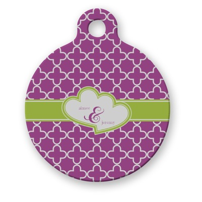 Clover Round Pet Tag (Personalized)