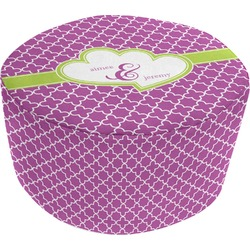 Clover Round Pouf Ottoman (Personalized)