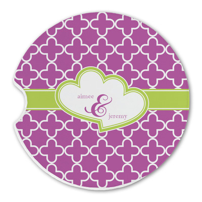Clover Sandstone Car Coasters (Personalized)