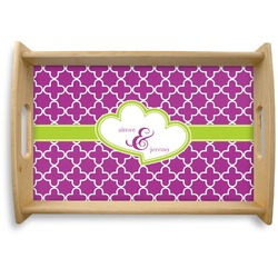 Clover Natural Wooden Tray (Personalized)