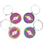 Clover Wine Charms (Set of 4) (Personalized)