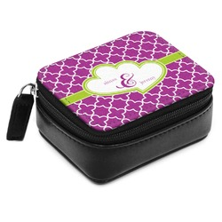 Clover Small Leatherette Travel Pill Case (Personalized)