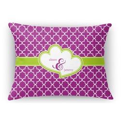 Clover Rectangular Throw Pillow Case (Personalized)