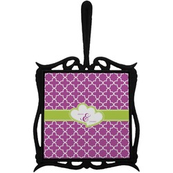 Clover Trivet with Handle (Personalized)