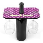 Clover Wine Bottle & Glass Holder (Personalized)